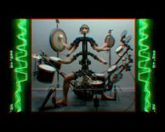 Monkey drummer by Coen van Mourik. Aphex twin and Chris Cunningham's master piece the Monkey Drummer.
