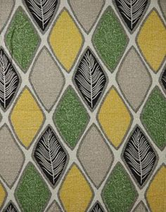 A 1950s, mid-century modern, diamond patterned abstract fabric.
