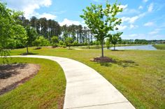 There are miles of tree-lined community parkways, equestrian and multi-purpose trails and sidewalks in this planned community. #ashvillepark #bishardhomes