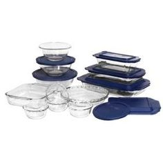 Pyrex No Leak Lids 12 Pc Storage Set Products Glass Storage Containers Storage Sets Kitchen Storage
