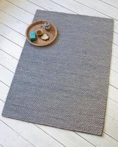 Teppich Strickoptik, grau, 140 x 200 cm, 9,71 kg