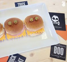 Monster Sandwiches! More spooktacular Halloween food ideas await you!