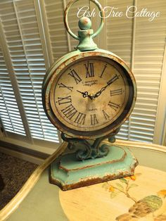 This Clock was another gift to Mom from Hobby Lobby _ Ash Tree Cottage Top Photos, Tick Tock Clock, Antique Clocks, Vintage Clocks, Vintage Stuff, Father Time, Cool Clocks, Time Stood Still, Time Clock
