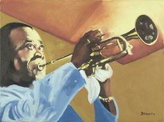 Louis Armstrong. Portrait by acclaimed singer Tony Bennett.