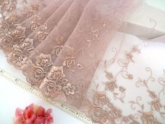 Lace trim embroidered tulle trim embroidered net trim door laceville