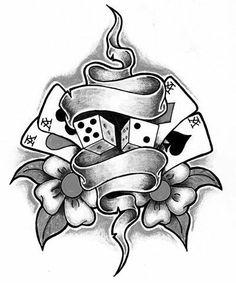 Image detail for -Card Tattoos Card Tattoo Designs, Family Tattoo Designs, Old School Tattoo Designs, Tattoo Design Drawings, Art Drawings Sketches Simple, Tattoo Sketches, Cute Drawings, Baby Tattoos, Body Art Tattoos