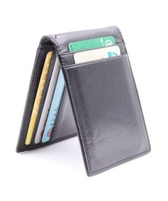 RFID Bifold Slim Wallet Mens Minimalist Front Pocket Wallet Money Clip Credit Card Wallet Black * You can find out more details at the link of the image. (This is an affiliate link) Leather Cuffs, Leather Jewelry, Metal Jewelry, Front Pocket Wallet, Slim Wallet, Cowgirl Jewelry, Gothic Jewelry, Leather Money Clip Wallet, Country Jewelry