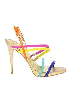 cfc247d1 Preciosas sandalias de tacón alto de muchos colores #fiesta #primavera  #muchoscolores #sandalias