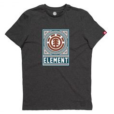 ELEMENT Spirograph SS tee-shirt charcoal 25,00 € #skate #skateboard #skateboarding #streetshop #skateshop @playskateshop