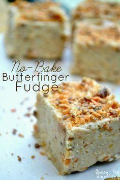 No-Bake Butterfinger Fudge
