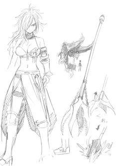Sketches of Erza Nightwalker