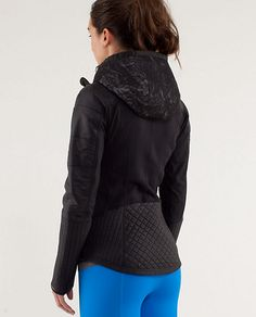 Lululemon RUN:Bundle Up Jacket*Reflect - this jacket is SO pretty in person.  LOVE the lace hood and detailed sleeves.