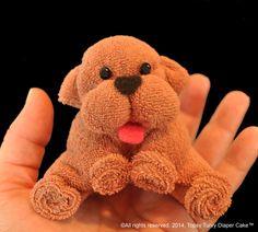 Cachorros de toallita de bebé. WashAgami™. Puede adjuntar a tu pastel de pañales, sujete a la parte superior de su paquete de regalo o simplemente crear diversión favores de la ducha.  ** Este es un diseño muy fácil a la make.*  El minuto de 34:00, fácil de seguir, video tutorial le guiará a través del proceso simple de creación de este querido que perrito hecho de toallitas de bebé.  Esponjas son indemnes son totalmente utilizables una vez desmontadas.  Mira cuando quieras y tantas veces…
