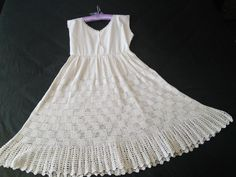 Cotton Crochet Dress Petticoat French Vintage Rare by FromParisToProvence on Etsy