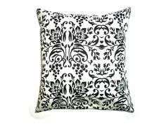 Baroque Cushion Cover Black and White Print