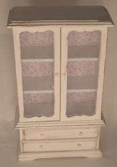 Armoire w/Lace Lavender by Syreeta's