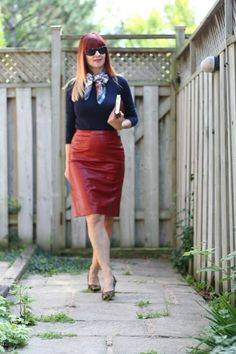 How to wear red leather Style and fashion for the woman over 40