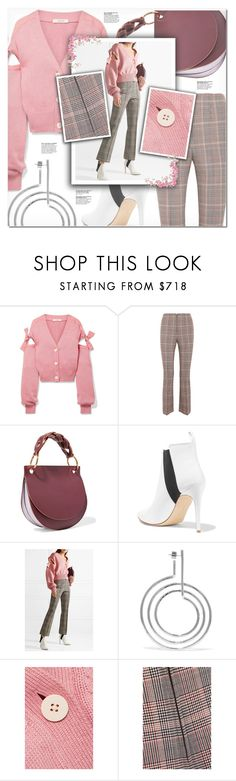 """Cardigan #3"" by iamasunshine ❤ liked on Polyvore featuring Adeam, Sonia Rykiel, Marni, Rupert Sanderson and Jennifer Fisher"