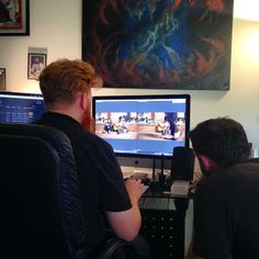 """Director Tim Sparks and Assistant Director Matt Albright wrapping up the edit on """"Efflorescence"""" #24hourfilmrace"""