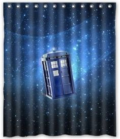 """Doctor Who Box In The Galaxy Waterproof Poloyester Fabric Shower Curtain Size 60""""x 72""""(China (Mainland))"""