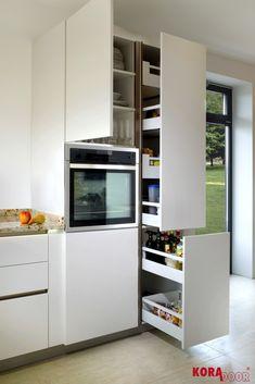 Úložný priestor v kuchyni/ Amazing kitchenstorage French Door Refrigerator, French Doors, Kitchen Appliances, Amazing, Home, Diy Kitchen Appliances, Home Appliances, Ad Home, Homes