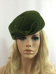 Olive Green Vintage 1960s Cloche Hat Wool Felt Pinehurst Fifth Avenue Italian  $35  https://www.etsy.com/listing/384434818/olive-green-vintage-1960s-cloche-hat?ref=shop_home_active_8