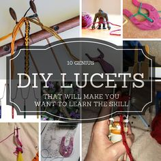 10 Genius DIY Lucets that will make you want to learn the skill of lucet braiding. From Stitch Diva Studios. Lucet, Tablet Weaving, Loom Weaving, Spool Knitting, Knitting Ideas, Medieval Crafts, Viking Culture, Viking Knit, Nature Crafts