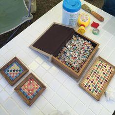 100均でカラフルにDIY♪「タイルコースター」でワンランク上のおもてなし - macaroni Mosaic Art, Diy And Crafts, Eriko, Wood, Handmade, Yahoo, Instagram, Kids, Mosaics