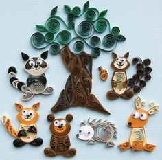 Have a go at a new craft technique - Paper Quilling - love this Woodland Creatures set.