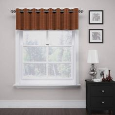 Deron Thermalayer Grommet Valance, Brown