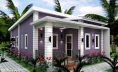 Small Home Plan with 3 Bedrooms – Amazing Architecture Magazine Single Storey House Plans, Two Storey House, Small House Plans, Bungalow House Design, Small House Design, Basement House Plans, House Floor Plans, Architecture Magazines, Amazing Architecture