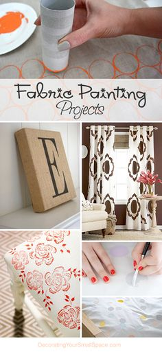 Fabric Painting Projects • Great Ideas! • Lots of Tutorials!
