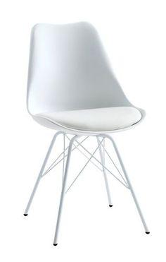 Ruokapöydän tuoli KLARUP keinonahka valk | JYSK