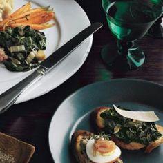 Tri-Tip Beef Stroganoff with Wild Mushrooms on Sourdough Toasts Recipe - Bon Appétit