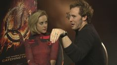 Hunger Games' Sam Claflin and Jena Malone on crabs and the Catching Fire...Can't stop laughing