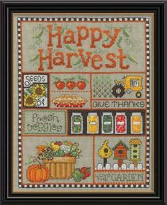 Happy Harvest, counted cross-stitch