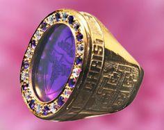 Personalizada anillo piedras y metales preciosos por Regnas en Etsy