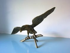 Your place to buy and sell all things handmade Birds Of Prey, My Animal, Paper Weights, Gifts For Him, Lion Sculpture, Art Deco, Brass, Statue, Eagle Bird