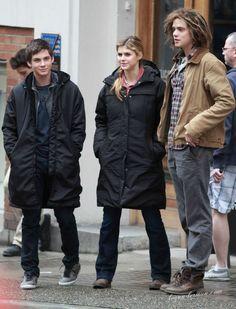 Logan Lerman, Alexandra Daddario, and Douglas Smith on location of Percy Jackon: Sea of Monsters (April 2012)