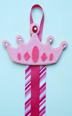 Princess Hair Bow Holder Princess Crown Cute by HairBowsbyMarsha, $5.00