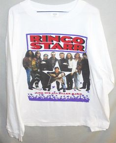 52a40102ca9 Original-1992 -Beatles Ringo Starr- Vintage All-Star Band XL Long Sleeve T- Shirt  fashion  clothing  shoes  accessories  vintage  mensvintageclothing  (ebay ...
