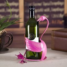 Tooarts Flamingo Wine Holder Wine Shelf Metal sculpture Home Crafts Decoration. Metal design, handmade Environmental heating paint Vivid and trendy color Flamingo Decor, Pink Flamingos, Flamingo Nails, Flamingo Garden, Flamingo Painting, Decor Crafts, Home Crafts, Wine Stand, Wine Shelves