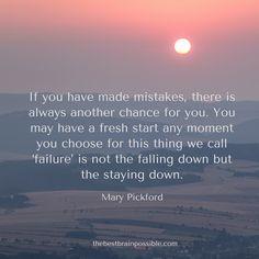 Failure IS part of success.