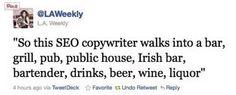 So this SEO copywriter walks into a bar... pic.twitter.com/1i7eVpkklU