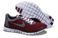 6a8d35744cf CFHHf 2012 Nike Free Run 3.0 V2 Men Shoes Red Grey Nike Shoes Cheap
