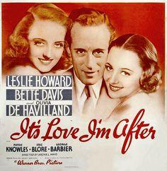 It's Love I'm After(1937) vtg Bette Davis, Leslie Howard (her true love) ..dvd