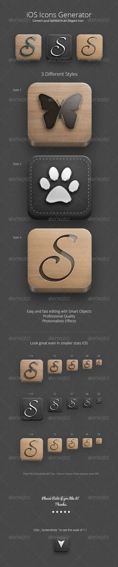 iOS Icons Generator - GraphicRiver Item for Sale