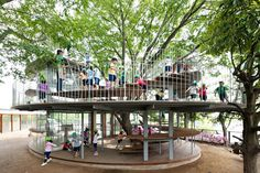 Ring around a tree byTezuka Architects