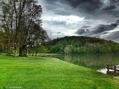 Big Ditch Lake, West Virginia by Laura Vaught  Adams