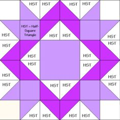 Royal Star Quilt Block Diagram ree Pattern at ! Big Block Quilts, Star Quilt Blocks, Star Quilts, Scrappy Quilts, Quilt Square Patterns, Barn Quilt Patterns, Pattern Blocks, Half Square Triangle Quilts, Square Quilt
